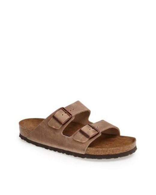 Birkenstock - Brown 'arizona Soft' Slide for Men - Lyst