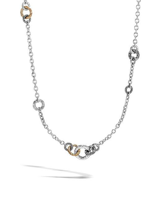 John Hardy - Metallic Classic Chain Hammered Link Sautoir Necklace - Lyst