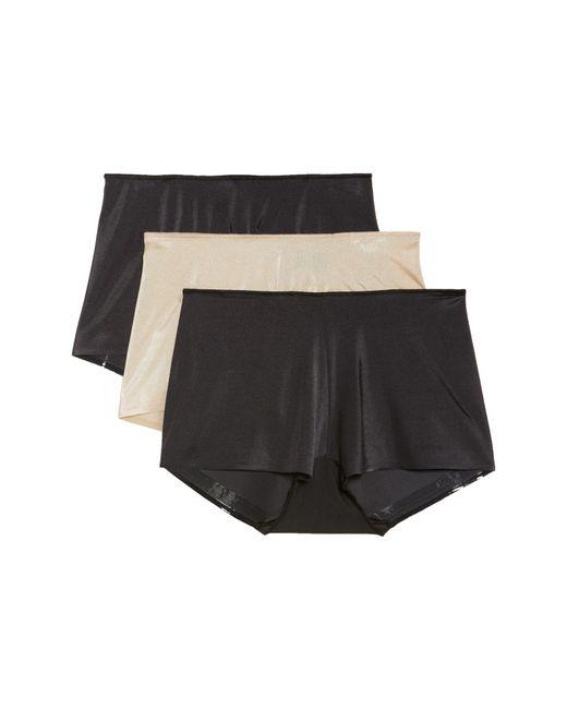 Tc Fine Intimates - Black 3-pack High Waist Boyshorts - Lyst