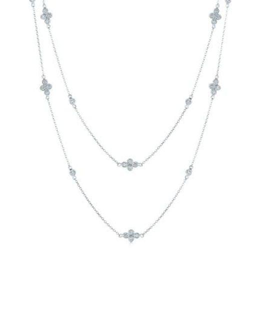 Kwiat | Metallic 'diamond Strings' Long Diamond Station Necklace | Lyst