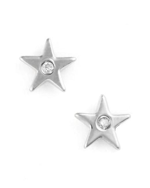 Shy By Sydney Evan | Metallic Star Stud Earrings | Lyst