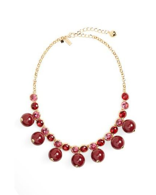 Kate Spade - Red True Colors Bauble Necklace - Lyst