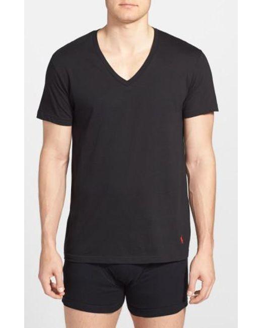 Polo Ralph Lauren - 3-pack V-neck T-shirts, Black for Men - Lyst