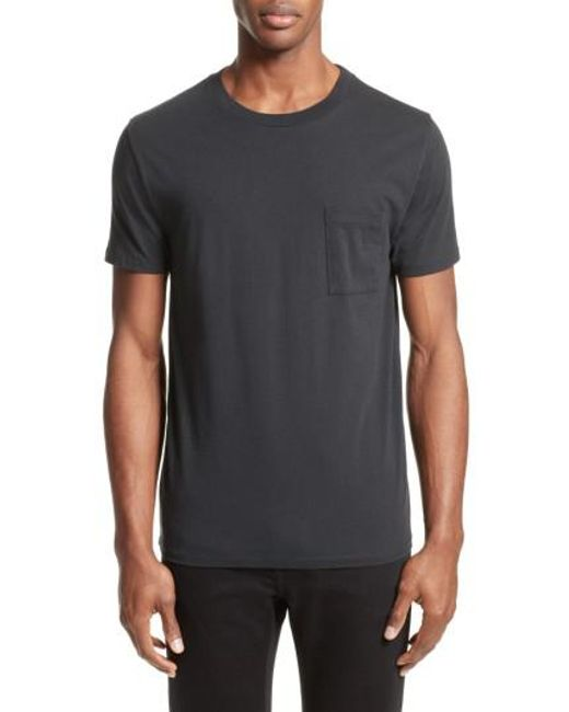 Levi 39 s levi 39 s made crafted tm pocket t shirt in black for Levis made and crafted shirt