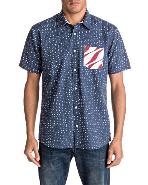 Quiksilver | Blue New Merica Print Shirt for Men | Lyst