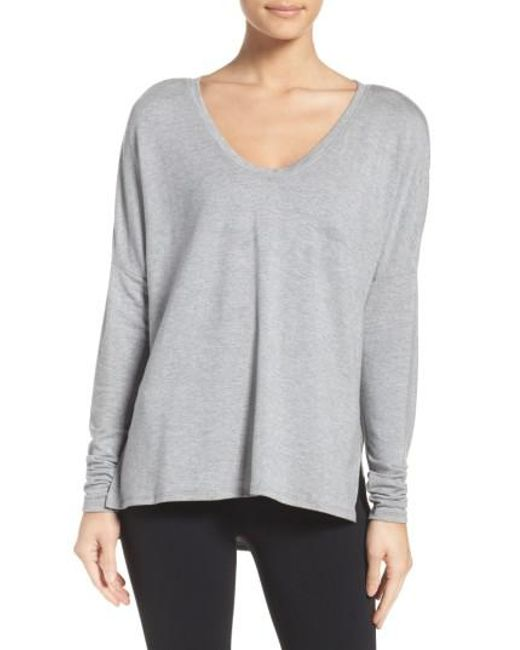 Zella | Gray She's Cute Terry Pullover | Lyst