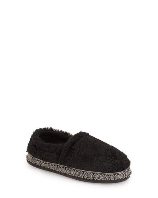 Woolrich | Black Whitecap Fleecey Slippers | Lyst