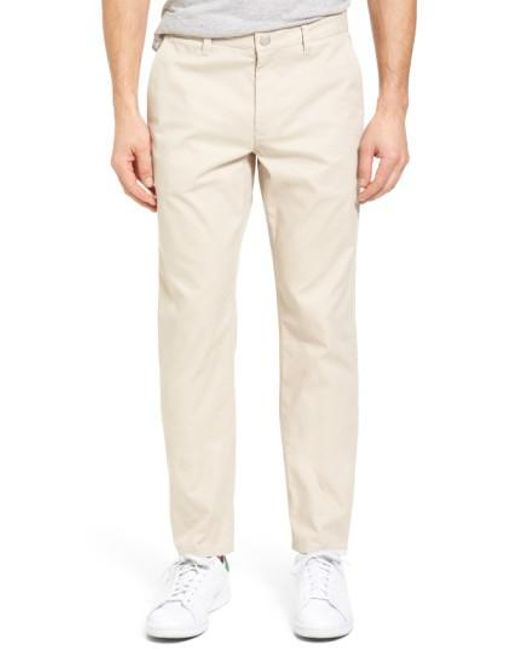 Bonobos | White Straight Fit Washed Chinos for Men | Lyst