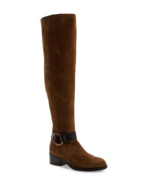Frye | Brown Kristen Harness Over The Knee Boot | Lyst