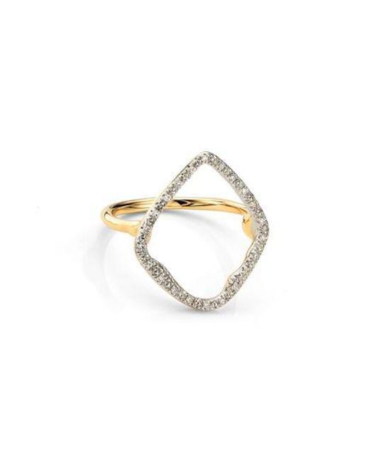 Monica Vinader   Metallic Large Riva Hoop Diamond Ring   Lyst
