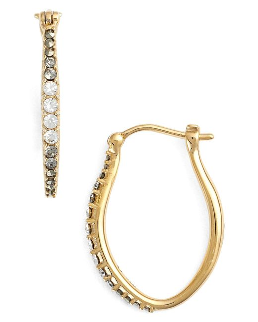 Judith Jack - Metallic Marcasite & Swarovski Crystal Hoop Earrings - Lyst
