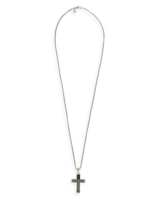 John Hardy - Metallic Classic Chain Cross Pendant Necklace for Men - Lyst