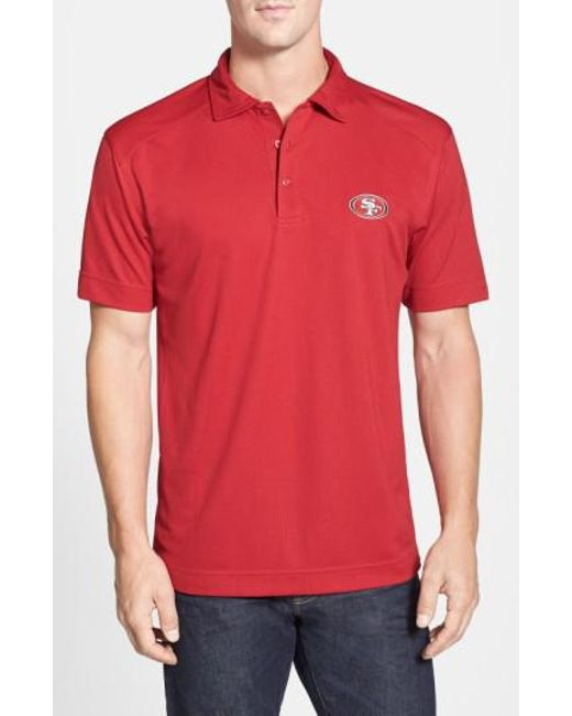 Cutter & Buck | Red 'san Francisco 49ers - Genre' Drytec Moisture Wicking Polo for Men | Lyst