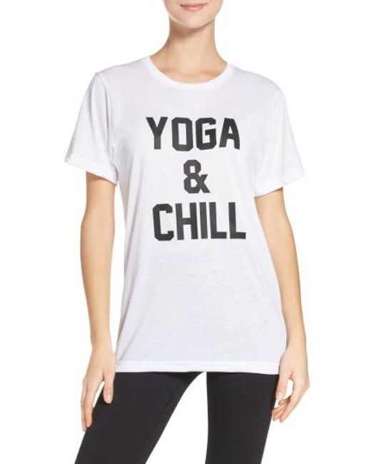 Private Party   White Yoga & Chill Tee   Lyst