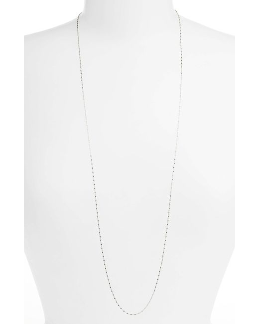 Bony Levy - White Long Beaded Chain Necklace (nordstrom Exclusive) - Lyst