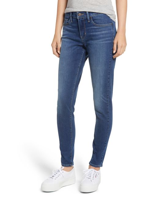Levi's - Blue Curvy Skinny Jeans - Lyst