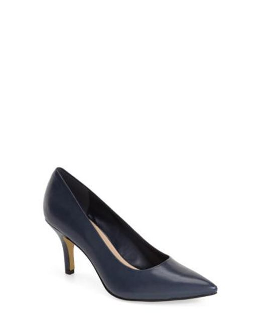 Bella Vita | Blue 'Define' Pointy Toe Pump | Lyst