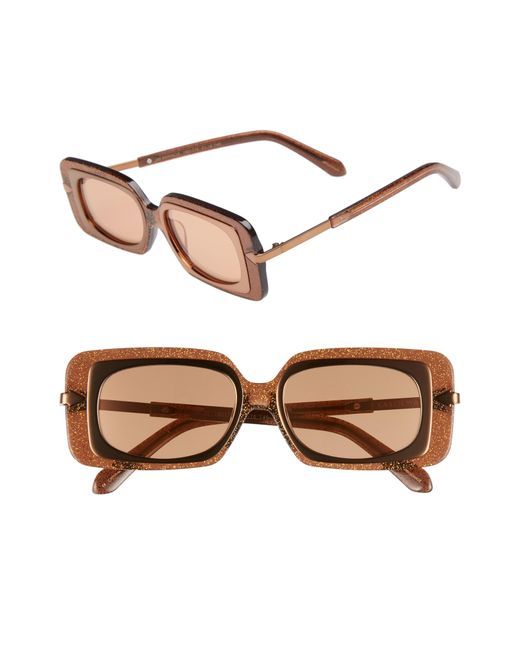 Karen Walker - Multicolor Mr. Binnacle 51mm Sunglasses - Tobacco Glitter - Lyst