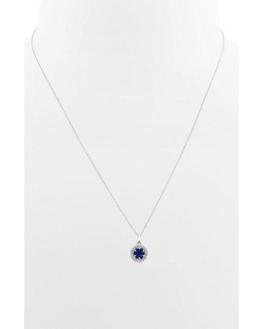 Bony Levy | Metallic Flower Button Diamond & Gemstone Pendant Necklace (nordstrom Exclusive) | Lyst