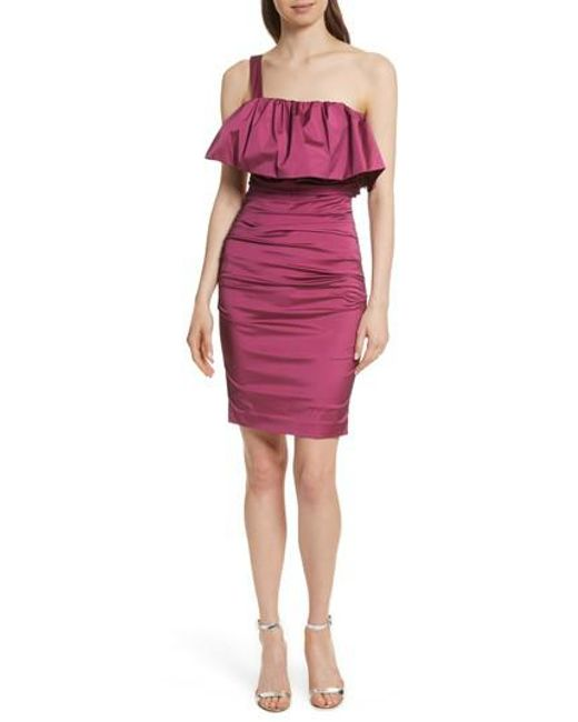 Tracy Reese - Multicolor Frilled Column Dress - Lyst