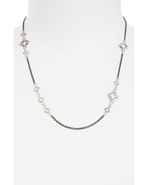 Armenta - Metallic New World Chain Scroll Station Necklace - Lyst