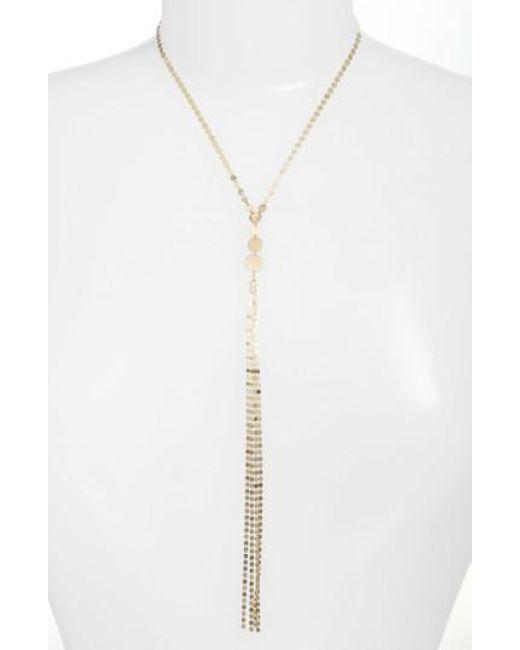 Lana Jewelry | Metallic Disc Y-necklace | Lyst