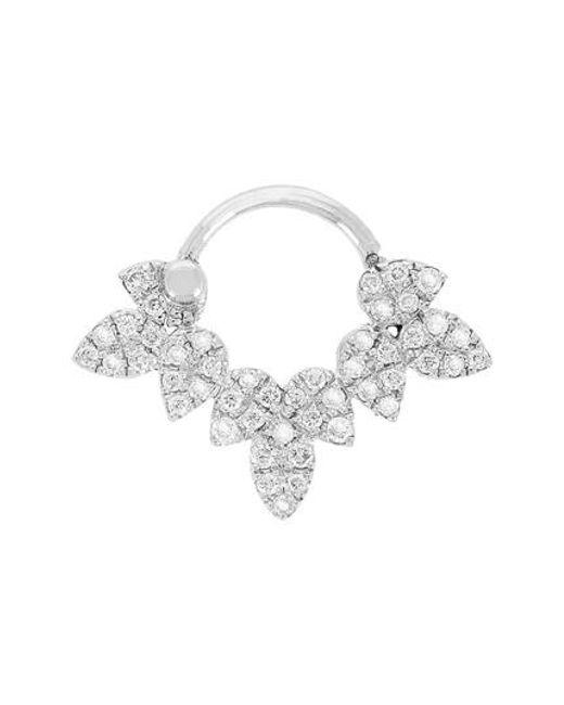 Yvonne Léon - Metallic Drip Bar Diamond Stud Earring - Lyst