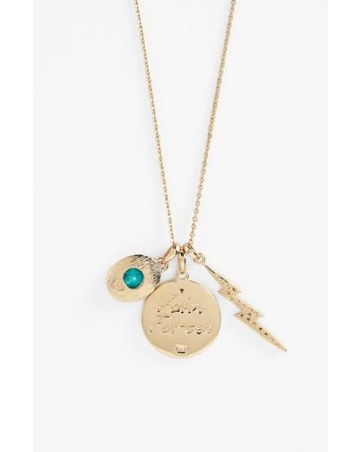 Melinda Maria | Metallic Goddess Sister Pendant Necklace | Lyst