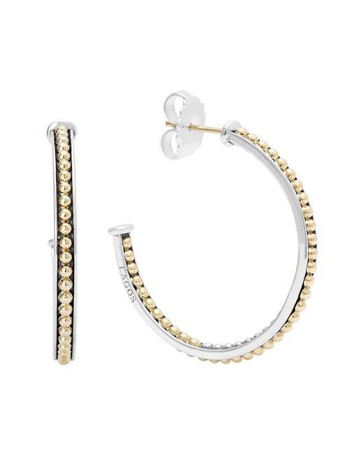 Lagos - Metallic 'enso' Caviar Hoop Earrings - Lyst