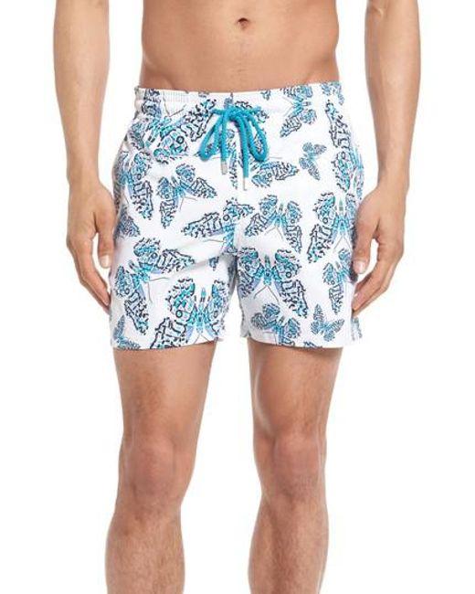 Vilebrequin - Blue Moorise Butterflies Superflex Swim Trunks for Men - Lyst