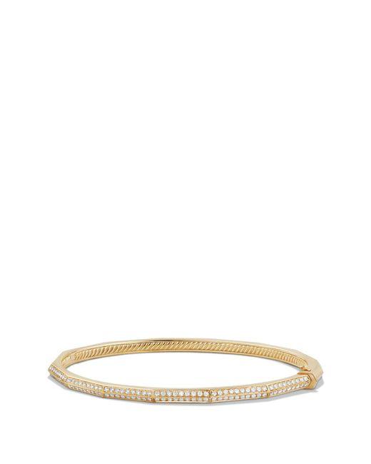 David Yurman - Metallic Stax Single-row Faceted 18k Gold Bracelet With Diamonds - Lyst