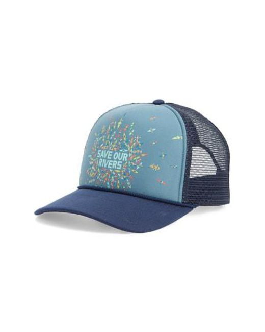 0332e1e1a8d Patagonia - Blue Save Our Rivers Interstate Trucker Hat - for Men - Lyst
