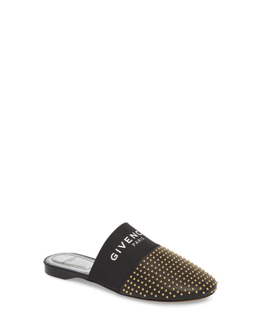 Givenchy - Black Studded Mule - Lyst