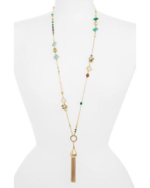 Gas Bijoux | Metallic Pompom Tassel Necklace | Lyst