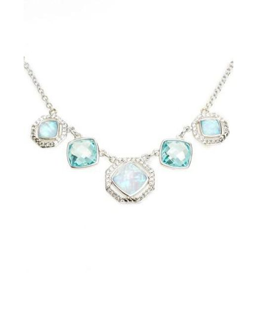 Judith Jack | Blue Paradise Frontal Collar Necklace | Lyst