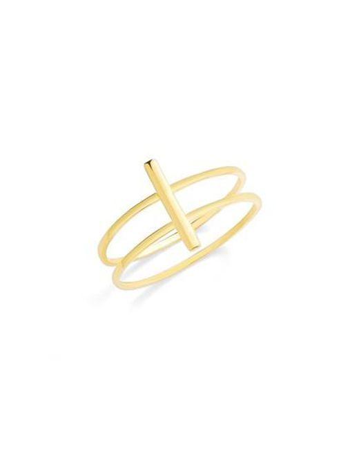 BaubleBar - Metallic Punto Everyday Fine Double Ring - Lyst