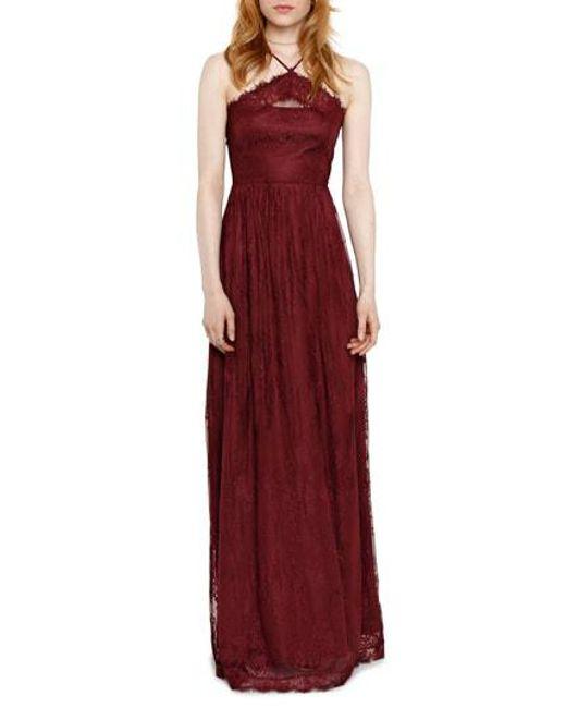 Heartloom - Purple Eloise Halter Neck Lace Gown - Lyst