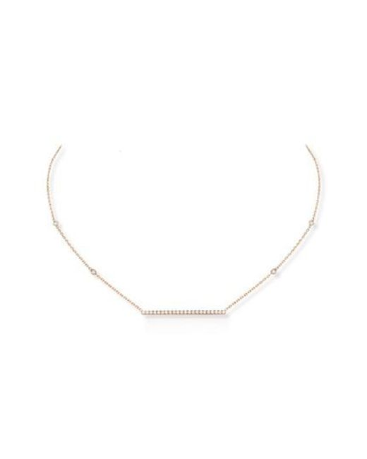 Messika | Metallic Gatsby Diamond Bar Necklace | Lyst