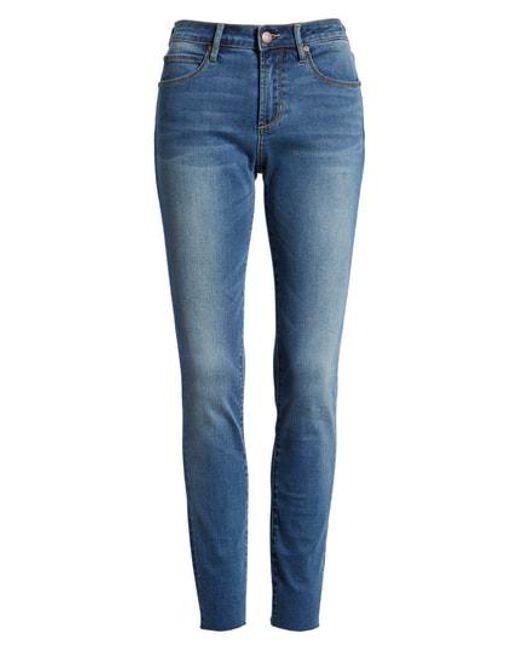 930567d51 Lyst - Leith High Waist Cutoff Skinny Jeans in Blue