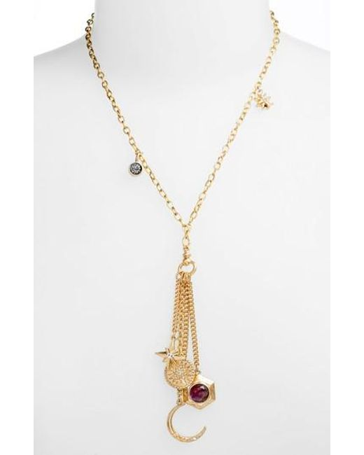 Treasure & Bond | Metallic Multi Charm Y-necklace | Lyst