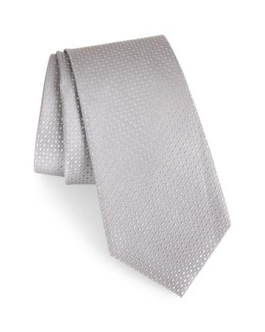 Calibrate - Metallic Ballard Solid Silk Tie for Men - Lyst