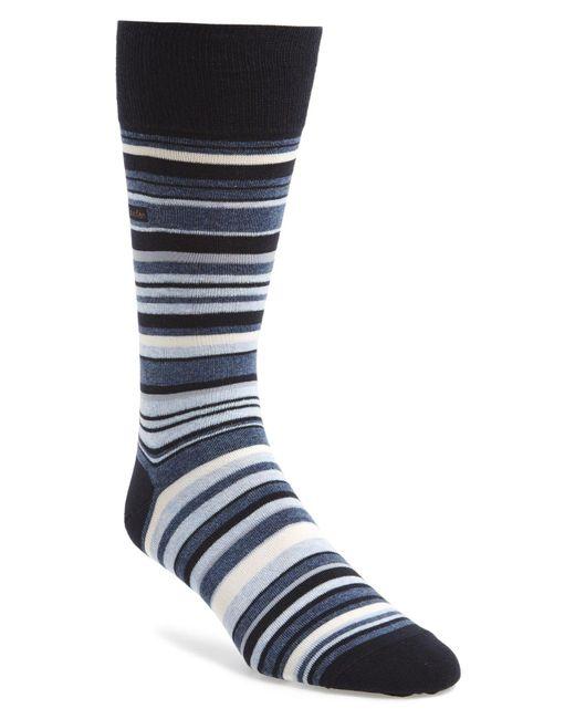 Calvin Klein - Blue Multistripe Emblem Socks for Men - Lyst