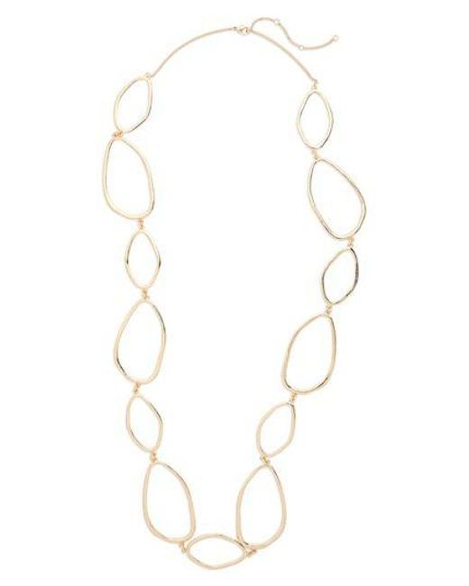 Panacea - Metallic Organic Link Necklace - Lyst