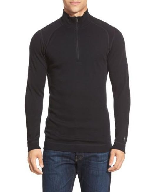 Smartwool - Black 'nts Mid 250' Long Sleeve Half Zip Pullover for Men - Lyst