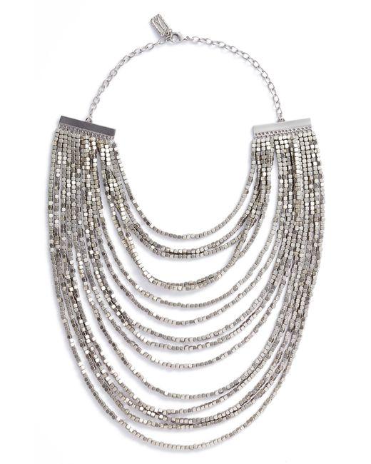 Karine Sultan - Metallic Joan Beaded Multistrand Necklace - Lyst