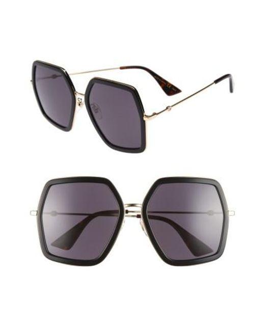 Gucci - Multicolor 56mm Sunglasses - Lyst