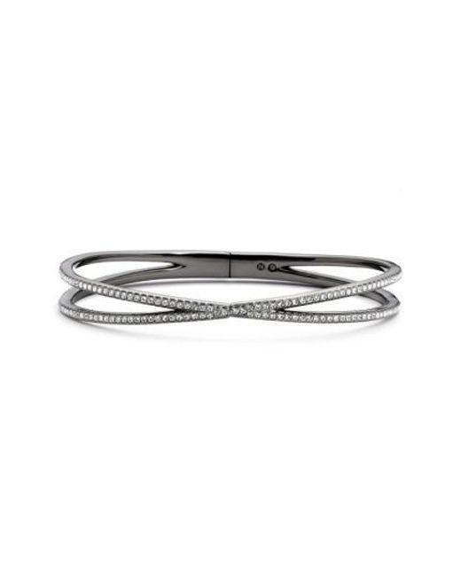Nadri - Black Pave Hinged Crossover Bracelet (nordstrom Exclusive) - Lyst