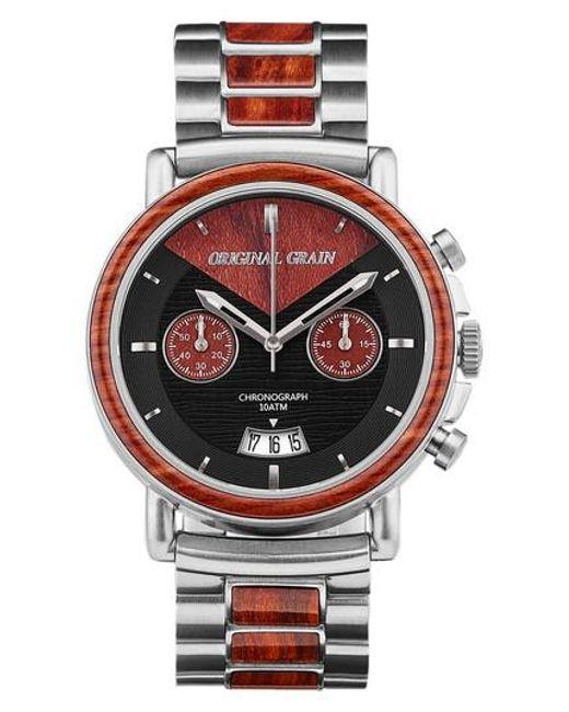 ORIGINAL GRAIN | Metallic Alterra Chronograph Bracelet Watch | Lyst