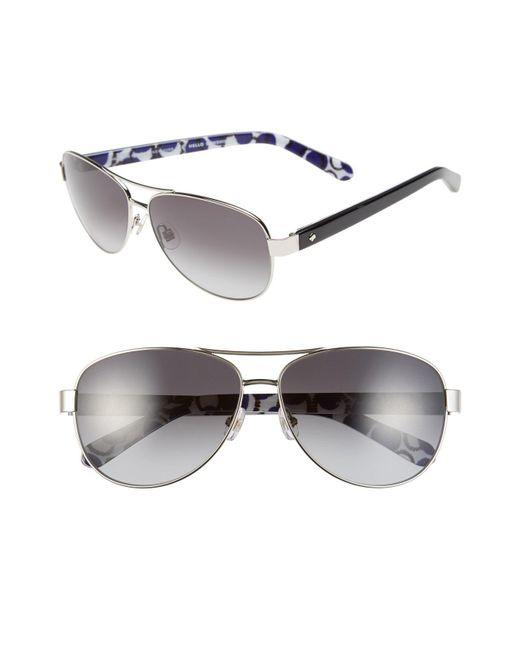 Kate Spade - Metallic 'dalia2' 58mm Aviator Sunglasses - - Lyst