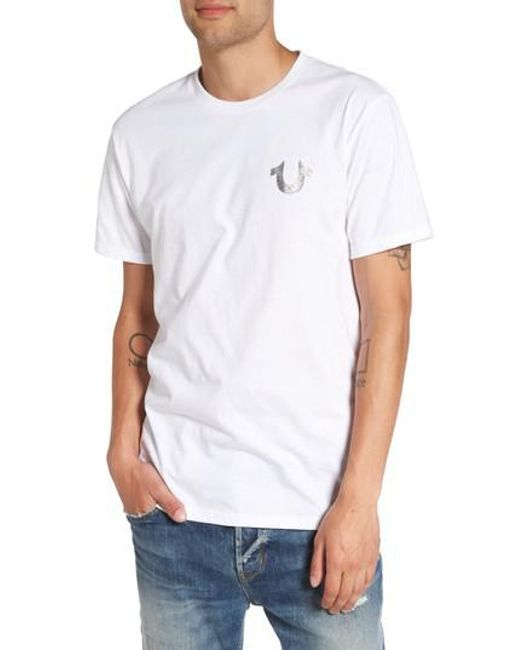 True Religion - White True Religion Silver Buddha T-shirt for Men - Lyst